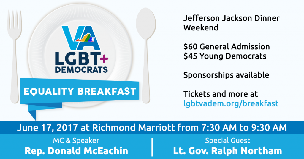 LGBT Democrats of Virginia Equality Breakfast